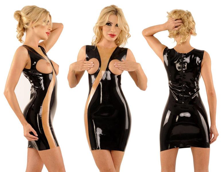 Latexové šaty - ab4696