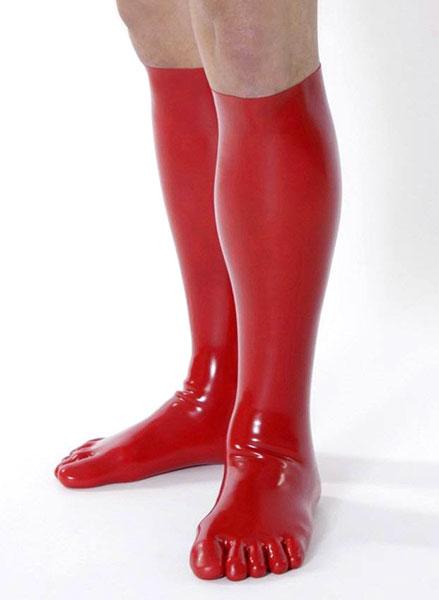 Latexové ponožky prstové (M, červené)