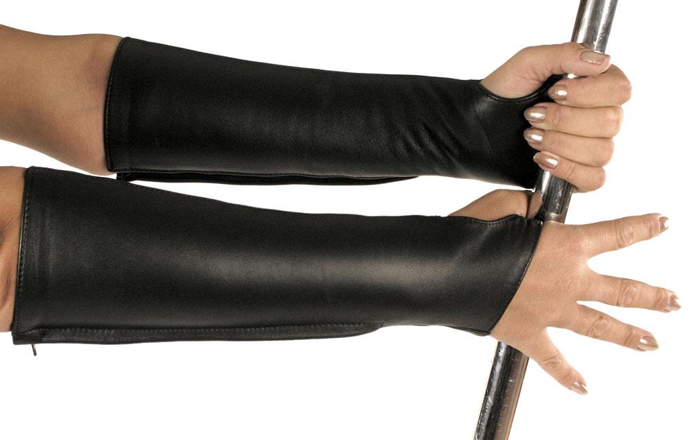 Kožené rukavice střední - le5223