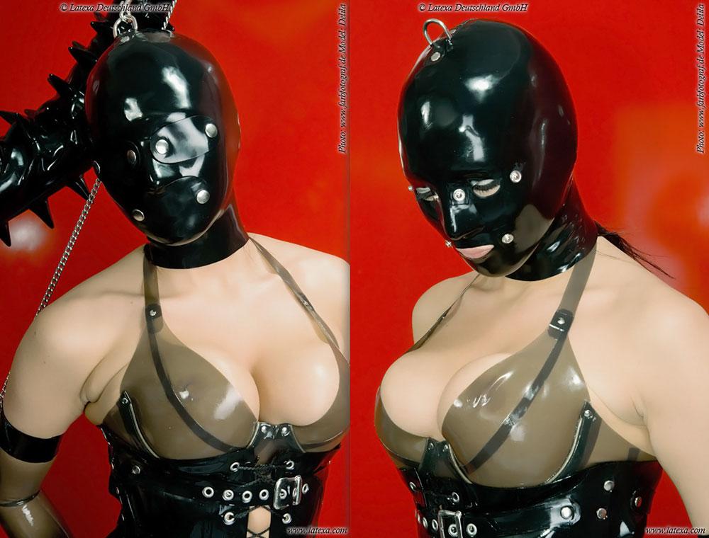 Latexová maska system - la3297