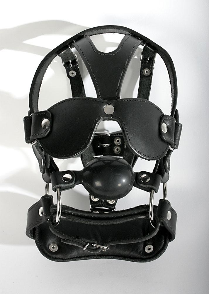 Kožená maska - le8004