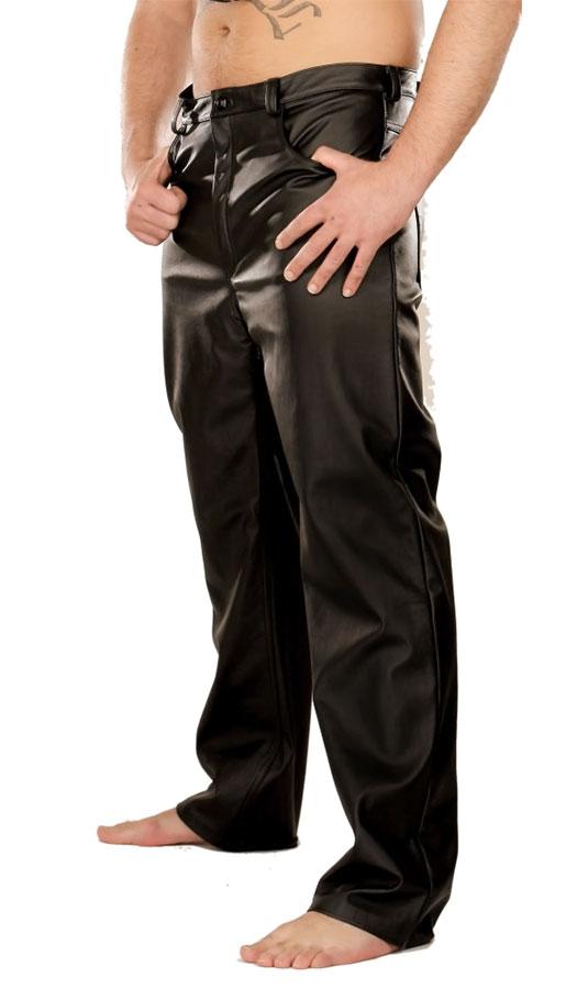 Kožené kalhoty - le0992