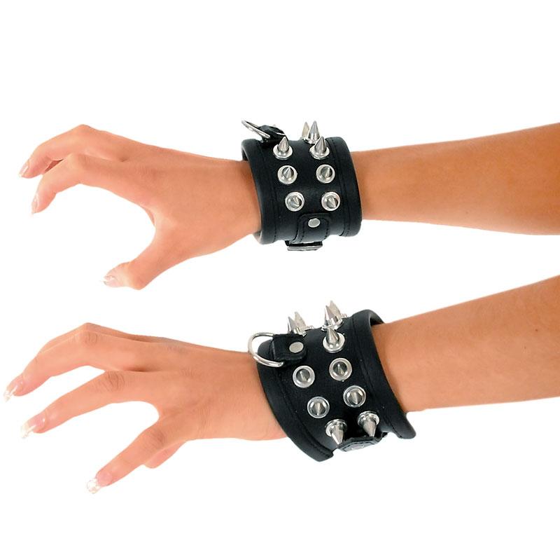 Kožená pouta na ruce - le0762