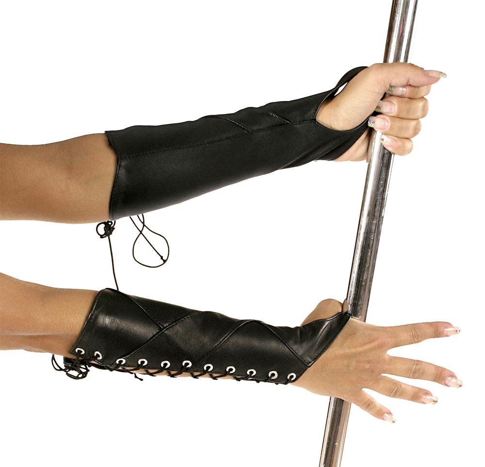 Kožené rukavice střední - le5522