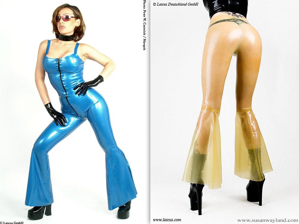 Latexové kalhoty - la3083