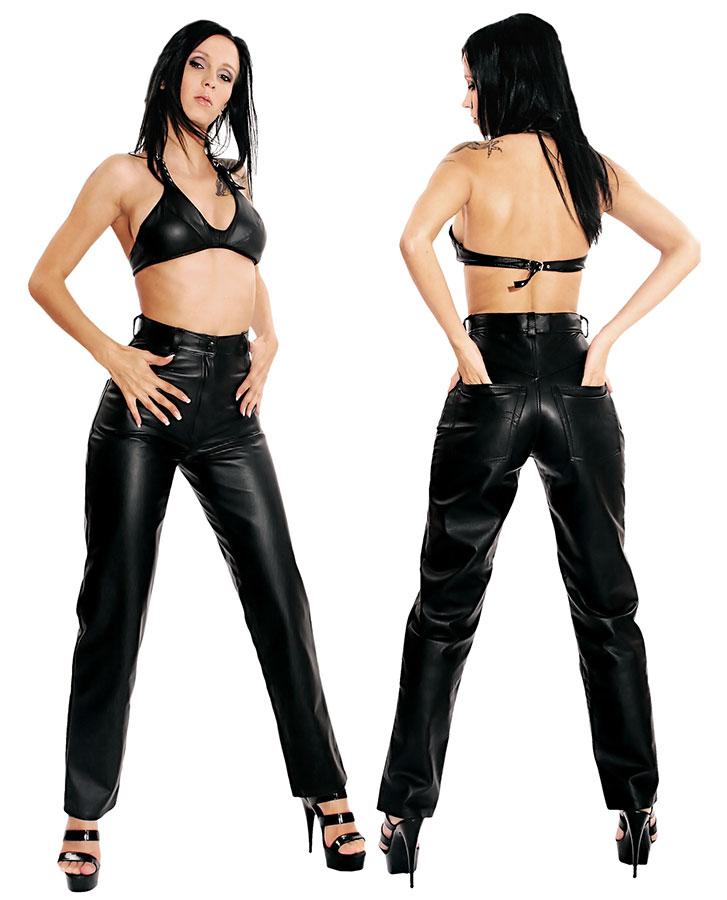 Kožené kalhoty - le0702