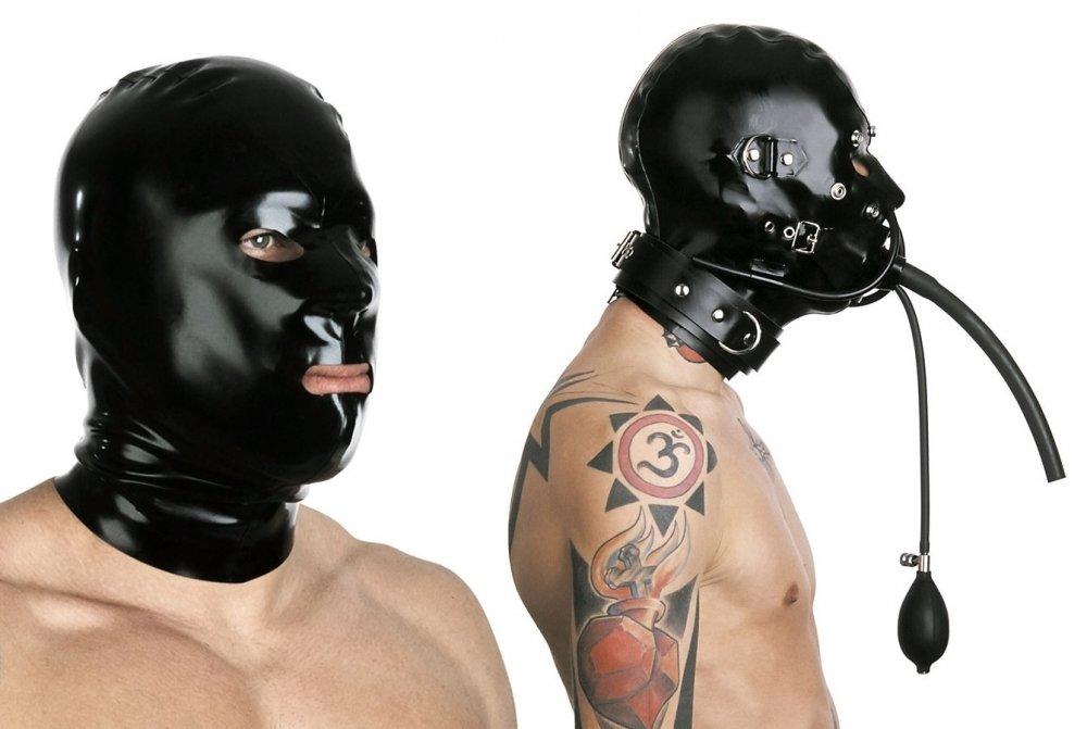 Latexová maska s doplňky - bs40003