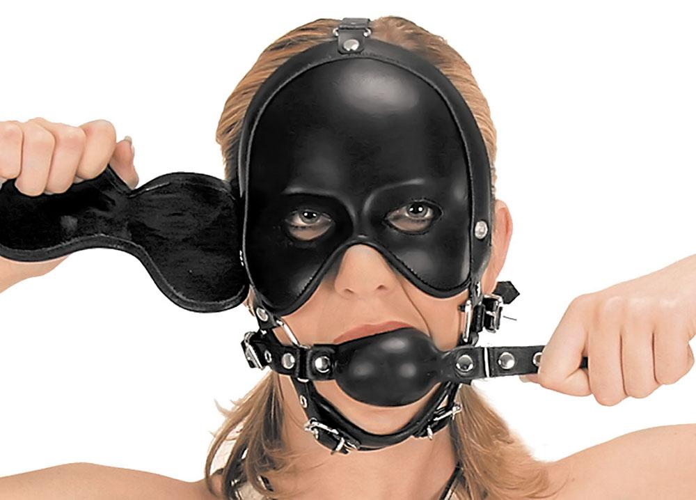 Kožená maska - le5173