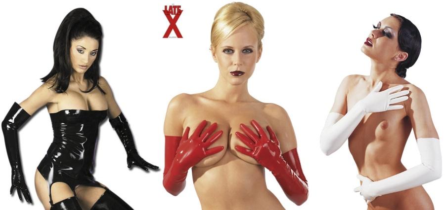 Latexové rukavice dlouhé - 2900149