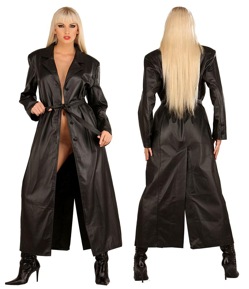 Dámský kožený kabát - le0790