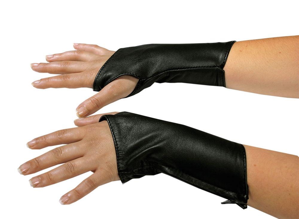 Kožené rukavice krátké - le5266