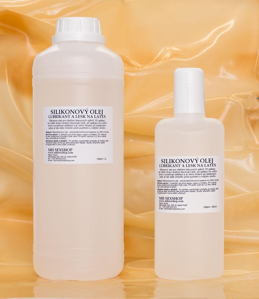 Silikonový olej - lubrikant a lesk na latex
