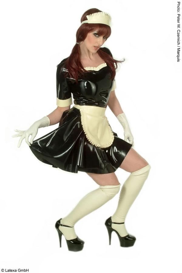 Latexové šaty - Služebná - la3030