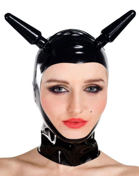 Latexová maska - Bizarre plugs - ab4835