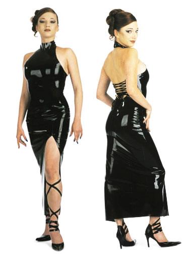 Latexové šaty - bs01017
