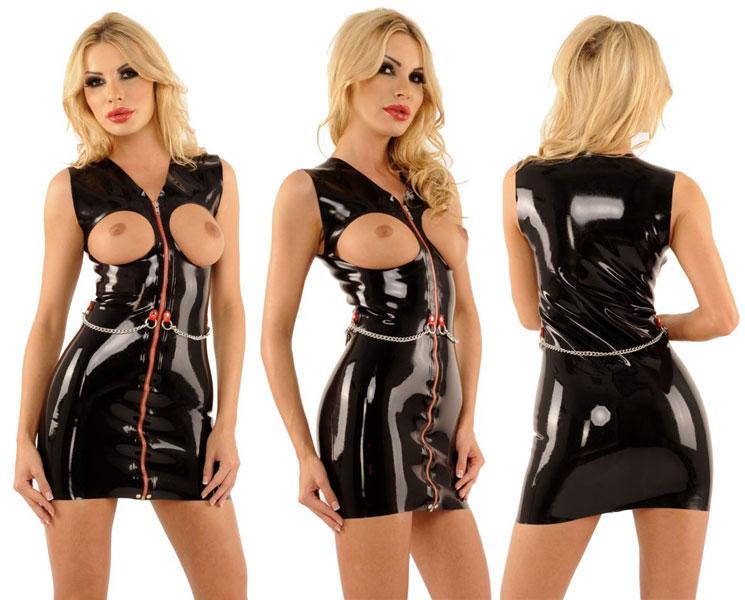 Latexové šaty - ab4771