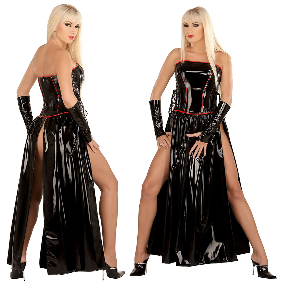 Lakové korzetové šaty - le1731